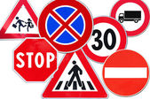Collection of road sign — Stock Photo