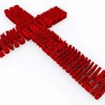 Croce Rossa composto da parole 3d — Foto Stock
