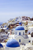 Roofs of Santorini — Stock Photo