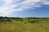 Village, field, meadow. — Stock Photo