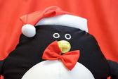 Happy New Year Penguin Santa Claus — Stock Photo