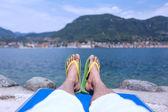 Sonnenbaden — Stockfoto