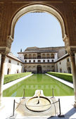Pátio de arrayanes, alhambra — Foto Stock