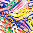Royalty-Free Stock Photo: Heap of colourful paper clips
