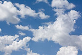 Clouds in the sky a background — Stock Photo