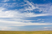 Landscape with gloomy clouds — Stock Photo