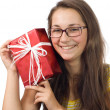 The girl with a gift — Stock Photo #3801896