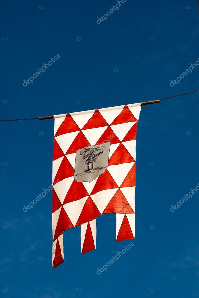 The San Secondo flag from the Palio di Asti, Italy — Stock Photo #3157885