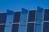 Solar panel mirrors — Stock Photo