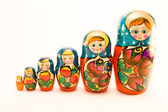 Matrioska aka Babushkas doll — Stock Photo