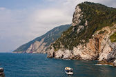 Cinque Terre with boat — Stock Photo