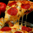 Pepperoni Pizza Slice — Stockfoto