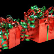 Christmas Gifts Isolated — Stock Photo #3157450