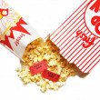 Popcorn and Movie Tickets — Stock Photo