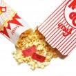 Popcorn and Movie Tickets — Stock Photo