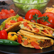 Tacos with Ingredients - Stock Photo