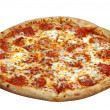 Royalty-Free Stock Photo: Pepperoni Pizza Isolated