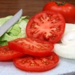 Tomato, Lettuce, and Onions — Stock Photo #3159684