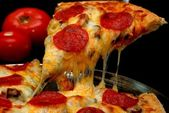 Pepperoni Pizza Slice — Stock Photo