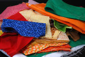 Stack of Fabric — Stock Photo
