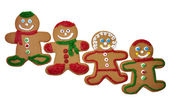 Gingerbread Men Isolated — Stock Photo