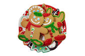 Gingerbread Cookies Isolated — Stock Photo