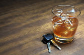 Drinking and Driving — Stock Photo
