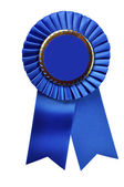 Blue Ribbon Award (with clipping path) — Stock Photo