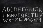Alfabeto y números — Foto de Stock