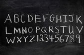 Alphabet and Numerals — Stock Photo
