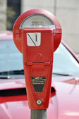 Red Parking Meter — Stock Photo
