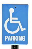Handicapped Parking Sign Isolated — Stock Photo