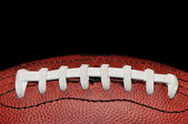 Football Closeup Isolated on Black — Stock Photo