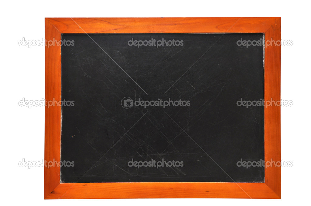 Blank chalkboard isolated on white background with clipping path. — Stock Photo #3158075