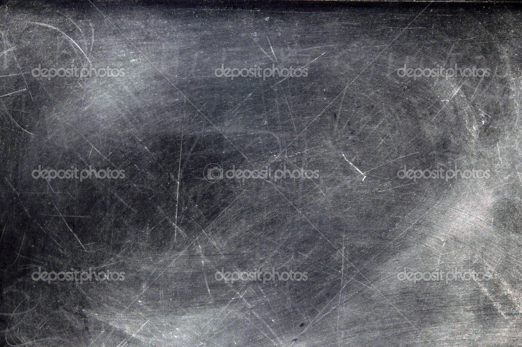 Black chalkboard with chalk dust with copy space.   — ストック写真 #3158163