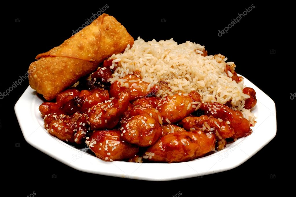 Chinese Food Sesame Chicken And Fried Rice Sesame Chicken With Fried Rice