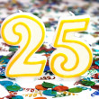 Stock Photo: Celebration Candle - Number 25