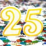 Celebration Candle - Number 25 — Stock Photo