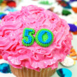 Stock Photo: Celebration Cupcake - Number 50