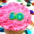 Celebration Cupcake - Number 60 — Stock Photo