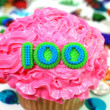 Celebration Cupcake - Number 100 — Stock Photo