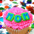 Celebration Cupcake - Mom — Stock Photo