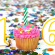 Stock Photo: Celebration Cupcake with Candle - # 16