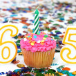 Celebration Cupcake with Candle - # 65 — Stock Photo