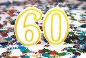 Celebration Candle - Number 60 — Stock Photo