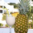 Pina Colada with Pineapple - Stock Photo