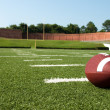 closeup of american football on field — Stock Photo #3693739