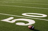 American Football on Field — Stock Photo
