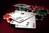 Quads Aces — Stock Photo
