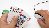 Online 5 draw poker — Stock Photo